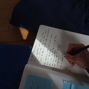 writing, asking, darkness, brightness.